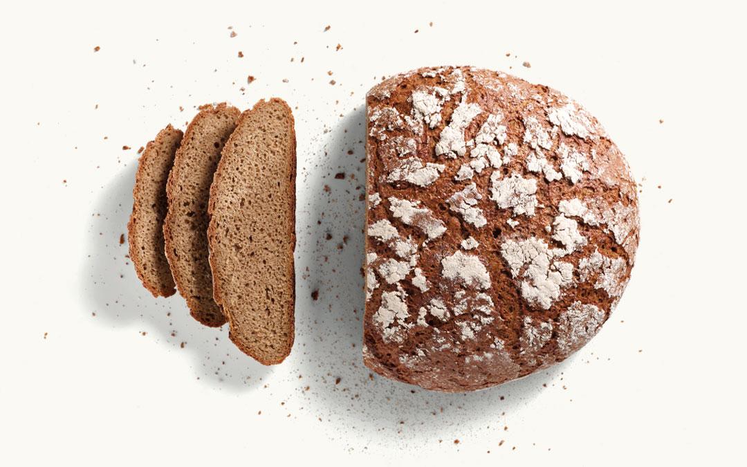 Brotlaib Frankenlaib aufgeschnitten