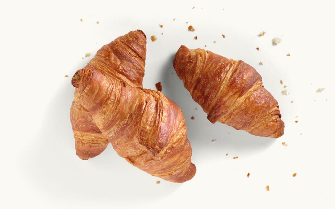Drei Butter-Croissants
