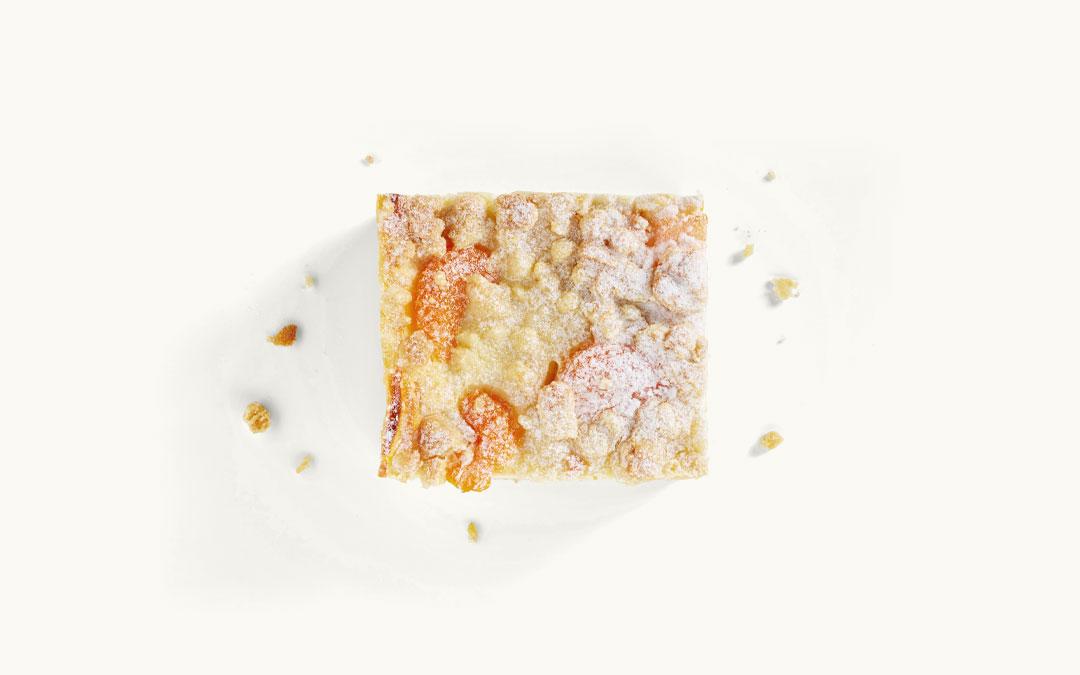 Stück Mandarinen-Quark-Schnitte