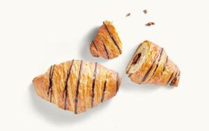 Schoko-Croissant abgebrochen