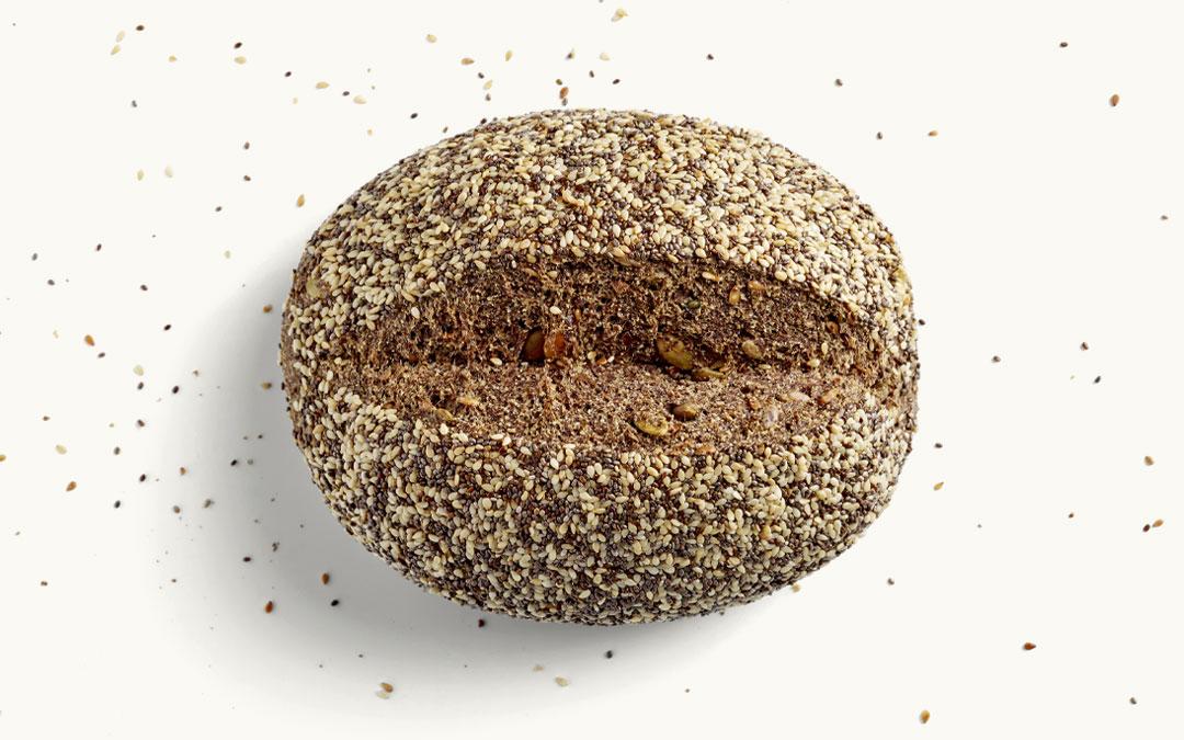 Ein MEHL-OHNE Brot Sesam-Chia