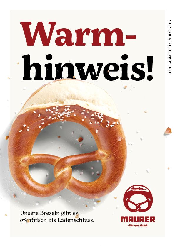 Anzeige Warmhinweis!