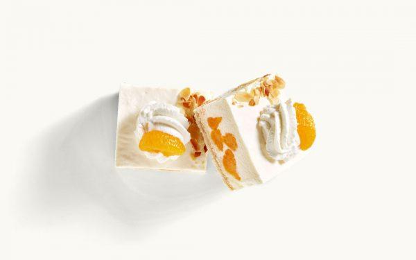 Joghurt-Sahneschnitte mit Mandarine